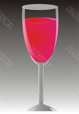 Goblet with wine