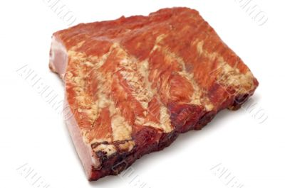 smoked food rib