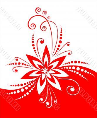 Red flower decor