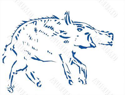 boar stamp engraving