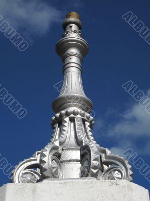 Architectural detail of gatepost piller
