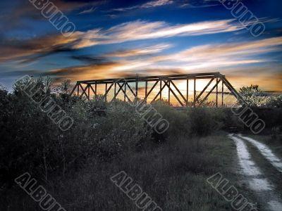 Amazing Sky Over the Railway Bridge