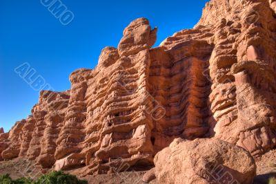Morocco caveman habitation cliff