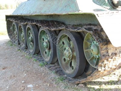 armoured troops - caterpiller track