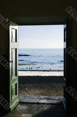 Ocean trough the door