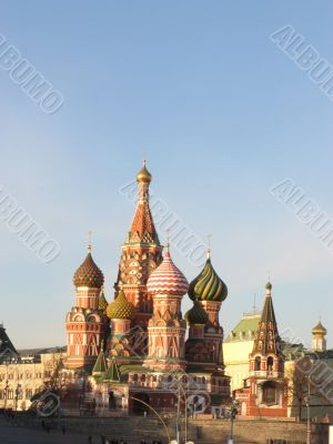 St. Basil`s Cathedral in Moscow