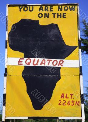 Equator sign