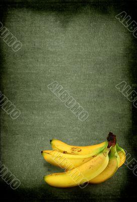 bananas against retro background