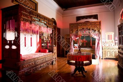 antique chinese wedding chamber