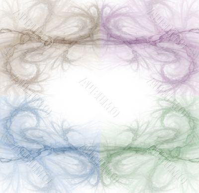 Border - Quad Color Swirls