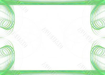 Border/Business Graphic - Circular Green
