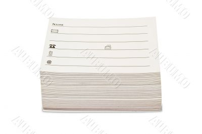 Blank Address Cards