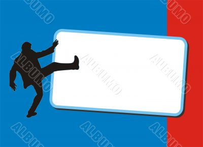 Banner with silhouettes of businessman