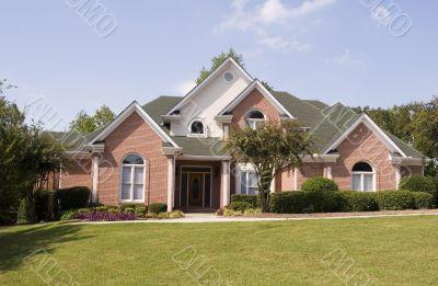 Brick House and Sidewalk
