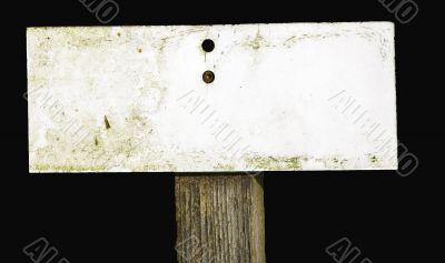 Worn sign