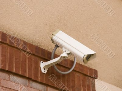 Security Camera on Stucco