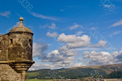 View of Stirling from the castle