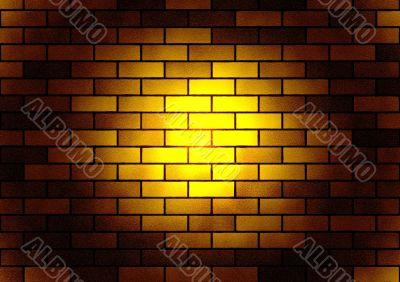 Brick  luminous texture