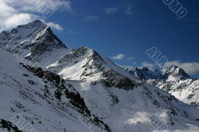 Bright blue peaks