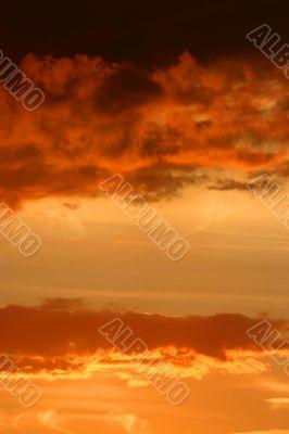 Setting sun skyscape