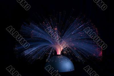Optical fibre light