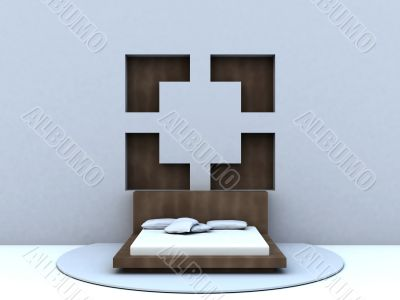 bed in modern style