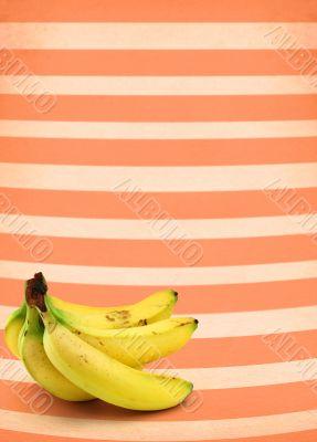 bananas against retro background #2