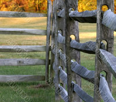 Close Up of Split Rail Fence