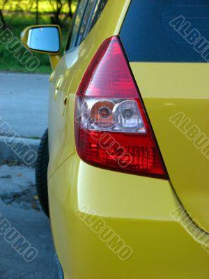 Yellow car back