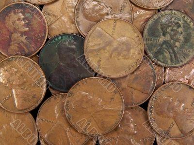 Vintage USA Wheat Pennies