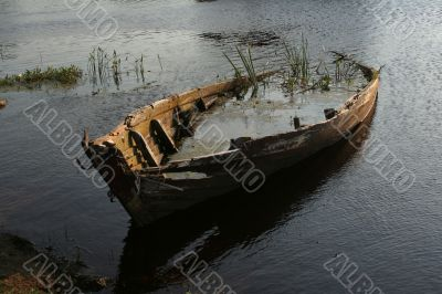 Aging wooden boat