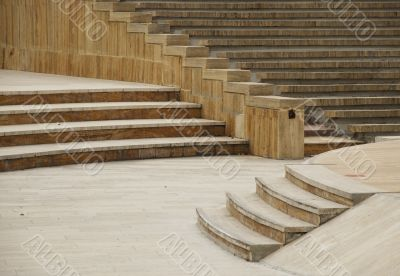 Amphitheater with quartet stairs in Autumn