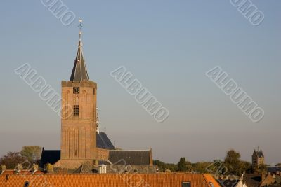 A church in a small village in the Netherlands