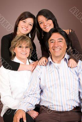 happy latin american family
