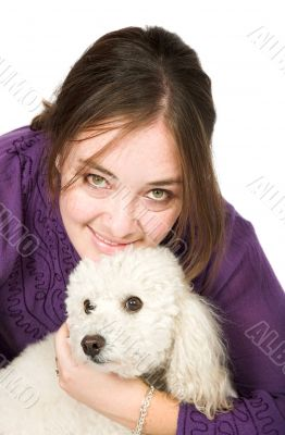 Casual Female Portrait with her dog