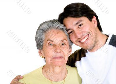grandson and grandmother