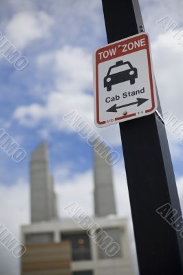 cab stand sign