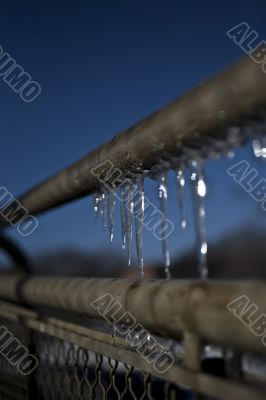railing with ice