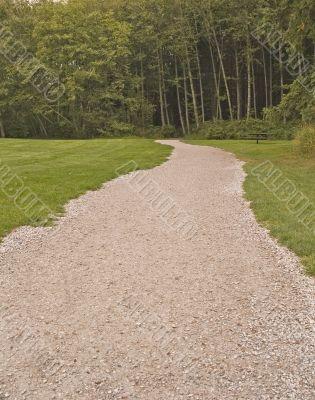 Gravel Path into Woods