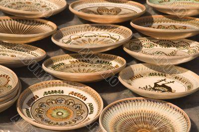 Romanian pottery background