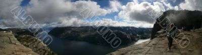 panoramic View on the Lysefjord, Norway, from Preikestolen