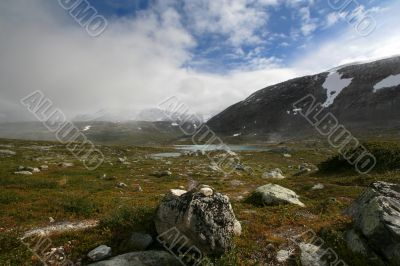 Highly in mountains of Norway