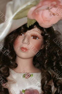 face of Porcelain doll