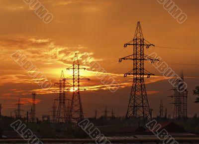 a high-voltage power line