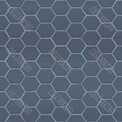 Honeycomb fabrics - steel blue