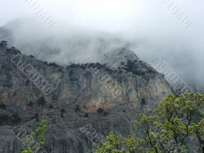 Mist over mountain