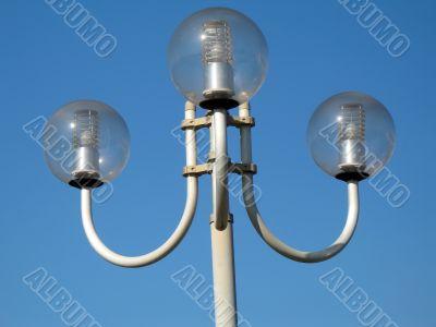 round streetlamps