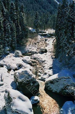 River in Dombai.