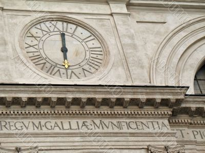Trinita` dei Monti Clock