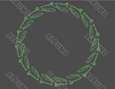 Green Celtic style design